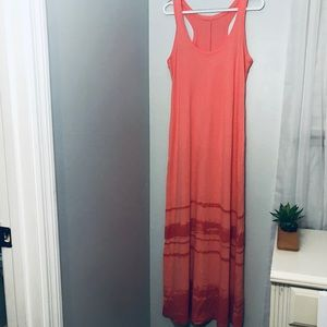 New York and Company pink/orange maxi dress